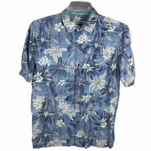 Tommy Bahama Hawaiian Shirt Mens M Camp